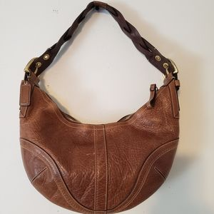 Coach Soho Dylan Distressed Leather Braided Hobo